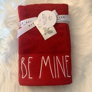 Rae Dunn BE MINE set of 2 hand towels